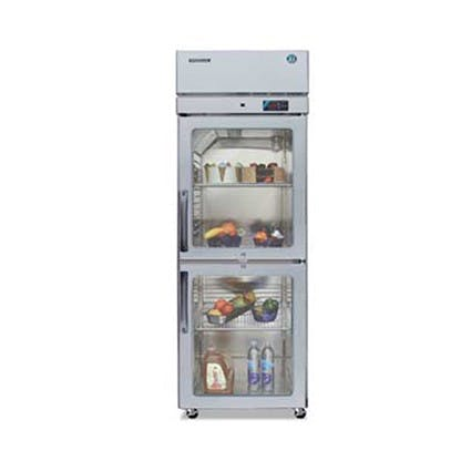 Hoshizaki RH1-SSE-HG Professional Series One Section Refrigerator, Half Size Glass Doors, 22.3 Cu Ft Commercial refrigerator sold by Mission Restaurant Supply