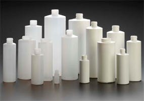 HDPE Cylinder Rounds Plastic bottle sold by Kaufman Container