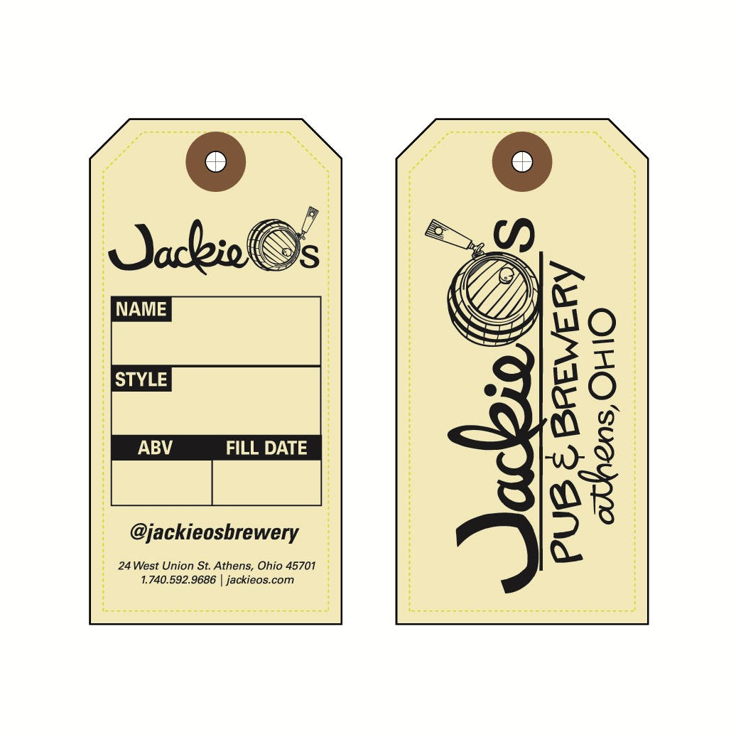 Growler Tag with 2 Sides Printed Hang tag sold by Glass and Growlers