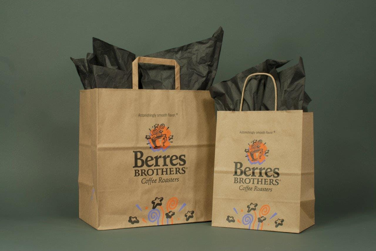Recycled Kraft Paper Shopping Bags  - Recycled Kraft Paper Shopping Bags and Gift Boxes - sold by Howard Packaging