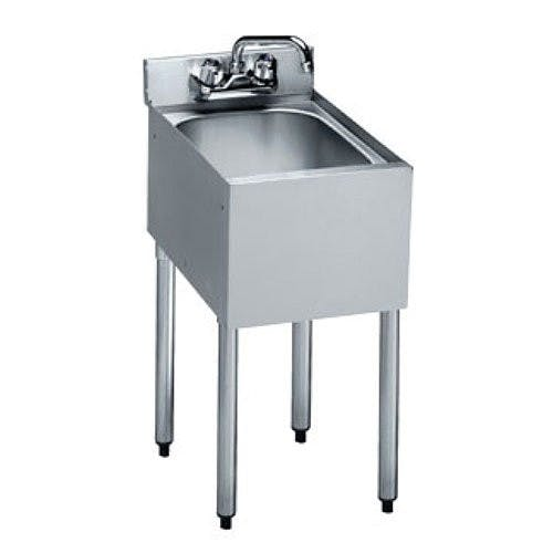 Krowne Metal 18-1C One Compartment Underbar Sink, 12 x 18-1/2, S/S Under bar sink sold by Mission Restaurant Supply
