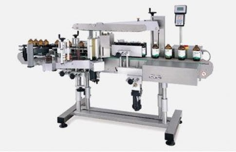 Front Back Wrap Labeler, Model 430 Bottle labeler sold by ACASI Machinery