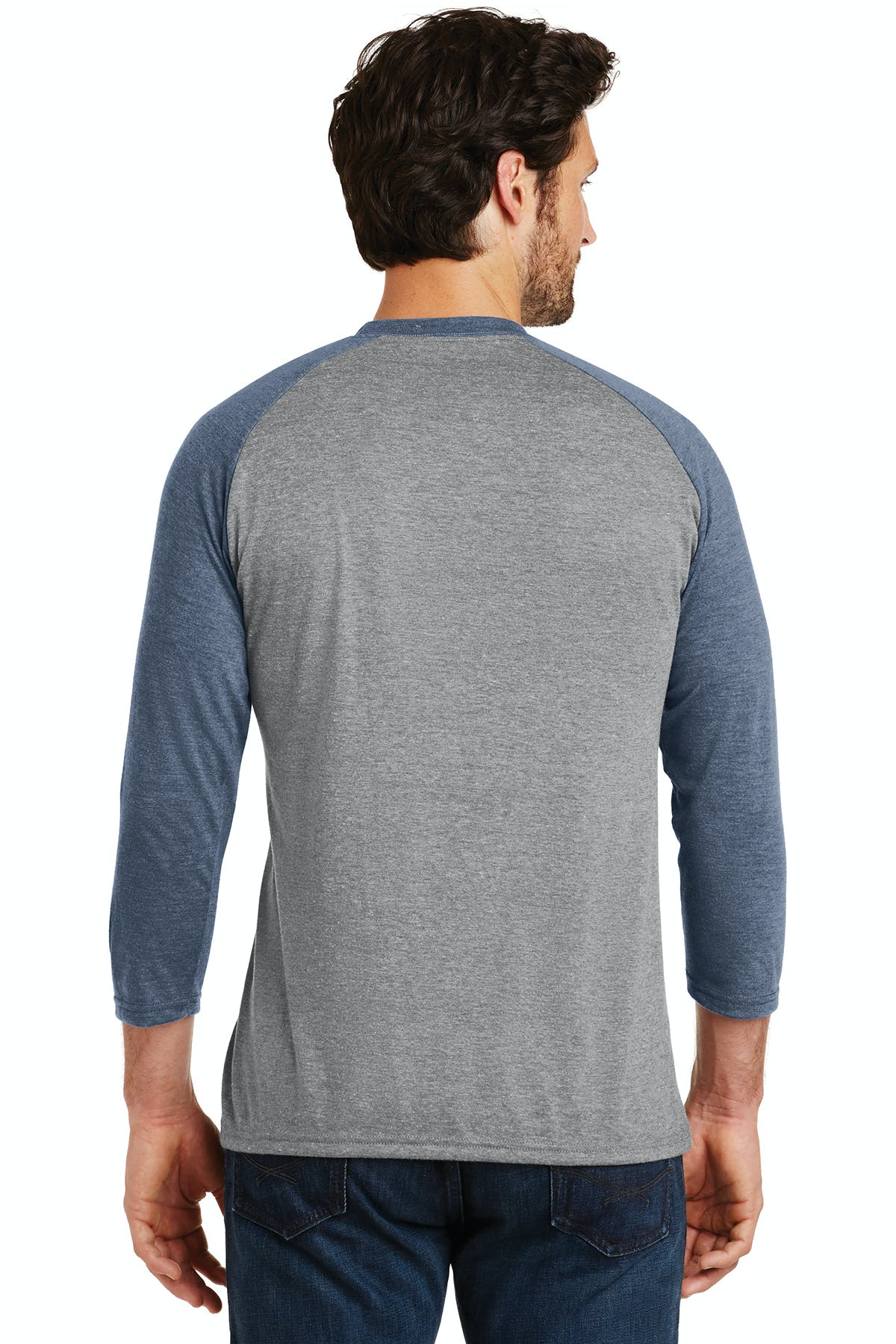 District Made® Mens Perfect Tri® 3/4-Sleeve Raglan - sold by PRINT CITY GRAPHICS, INC