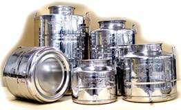 WINE STORAGE CONTAINERS containers produced in safe and certified stainless steel used to store food and beverage - sold by Super Monte