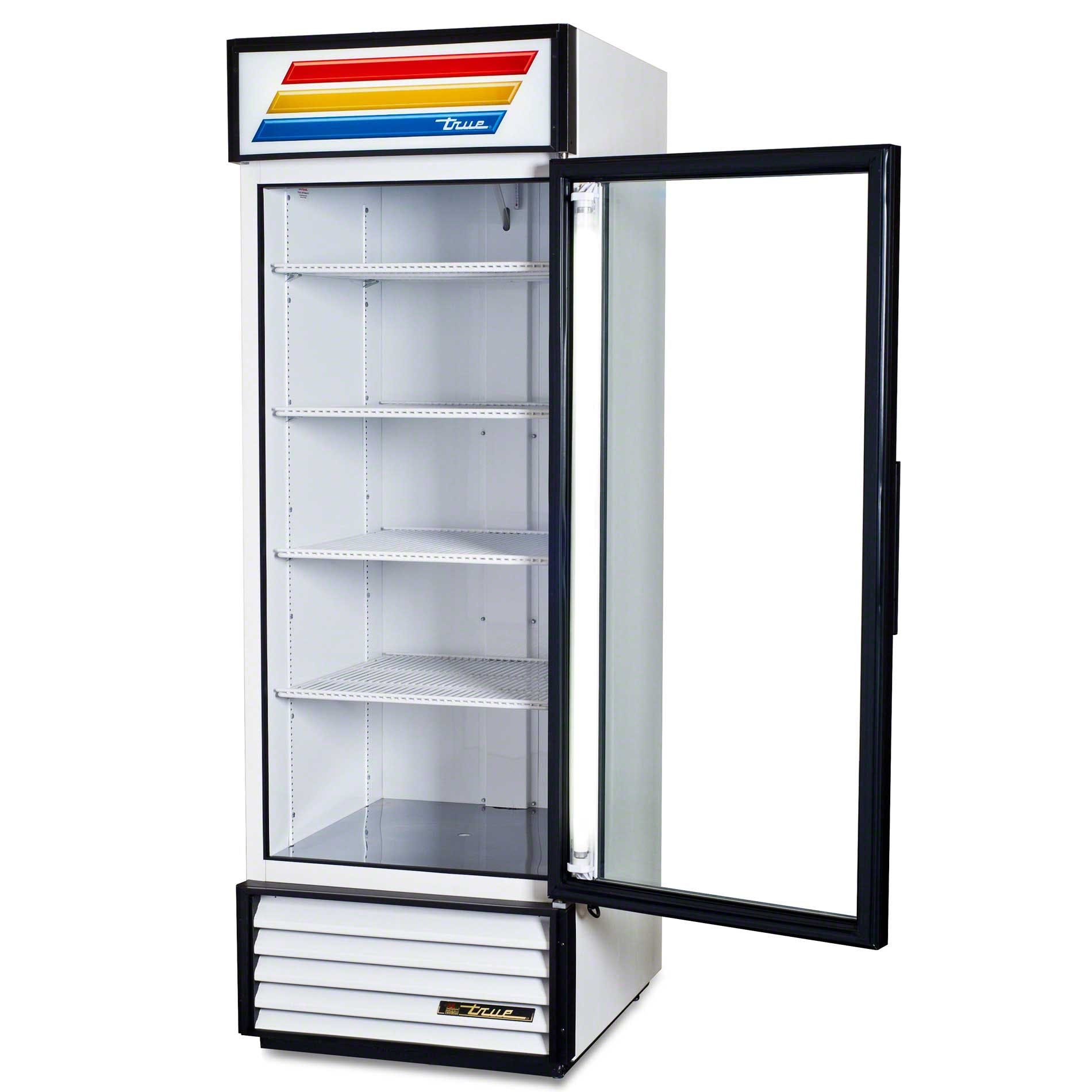 "True - GDM-23 27"" Swing Glass Door Merchandiser Refrigerator Commercial refrigerator sold by Food Service Warehouse"