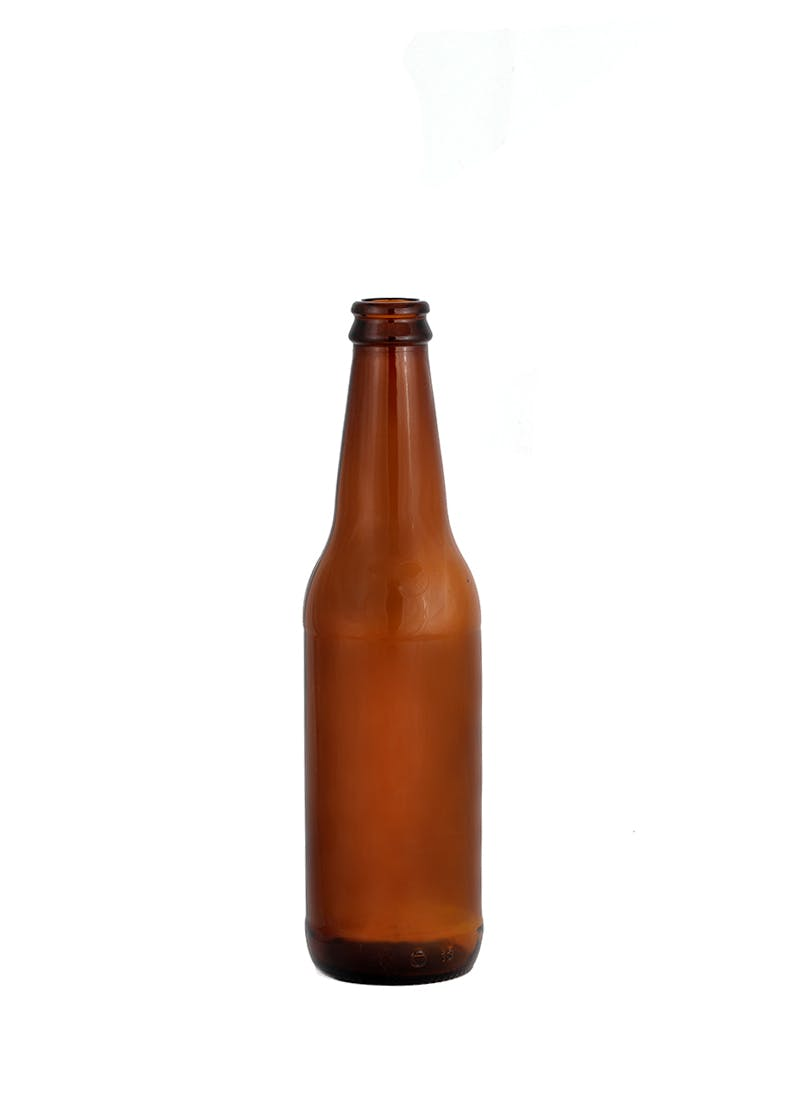 12 oz Long Neck Beer, Non-Returnable, Amber, Crown Cork (C1007) Beer bottle sold by WP Bottle Supply