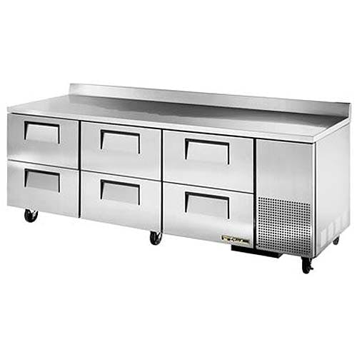"""True - TWT-93D-6 94"""" Worktop Refrigerator w/ Drawers Commercial refrigerator sold by Food Service Warehouse"""