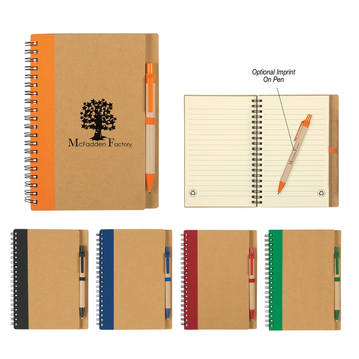 Spiral Notebook & Pen (Item # DGFHS-IUIRT) Recycled and Eco Friendly Promotional Item sold by InkEasy