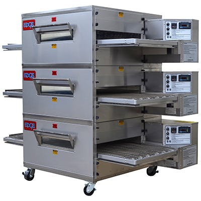 EDGE 2440 Series Triple-Stack Gas Conveyor Pizza Oven Commercial oven sold by Pizza Solutions