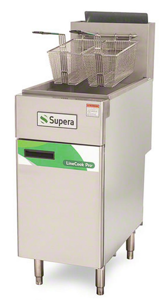 Supera (LCF4T-NG-1) - LineCook Pro 55 Lb. Natural Gas Fryer Commercial fryer sold by Food Service Warehouse