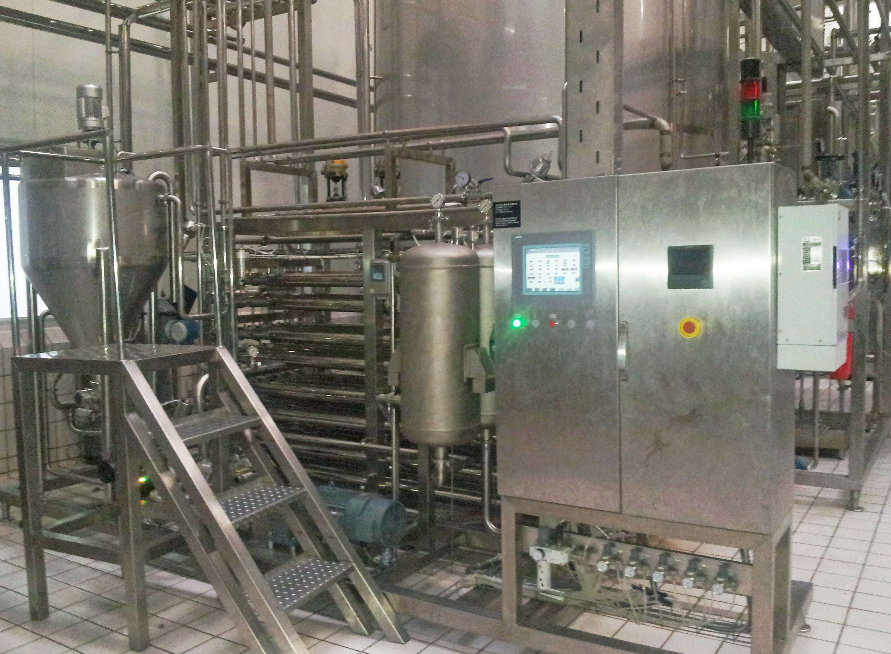ASEPTIC TUBULAR PASTEURIZER for fruit pulps and particles Pasteurizer sold by TPS Process Equipment