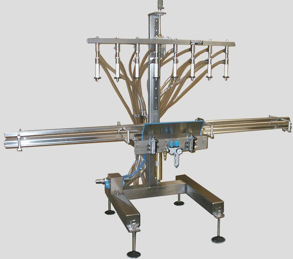 Semi Automatic Liquid Filling Machine Bottle filler sold by Filling Equipment Co., Inc.