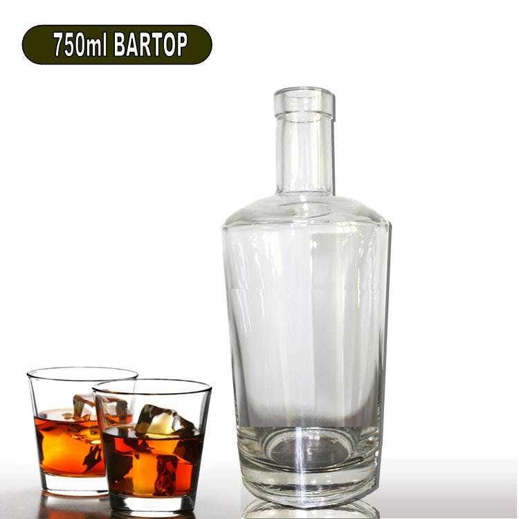 750ml Teddy Liquor Bottle Cork or Screwtop Liquor bottle sold by Wholesale Bottles USA