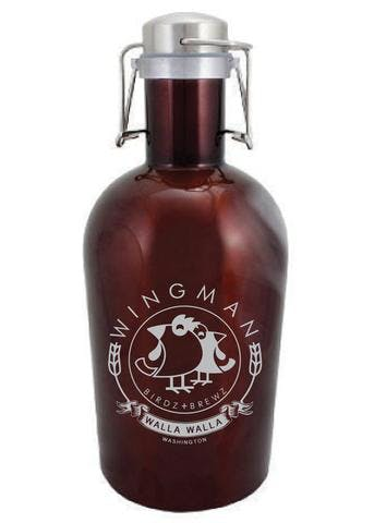 64 OZ. MERLOT GROWLER W/ HANDLE #SG-64-AM-H Growler sold by Clearwater Gear