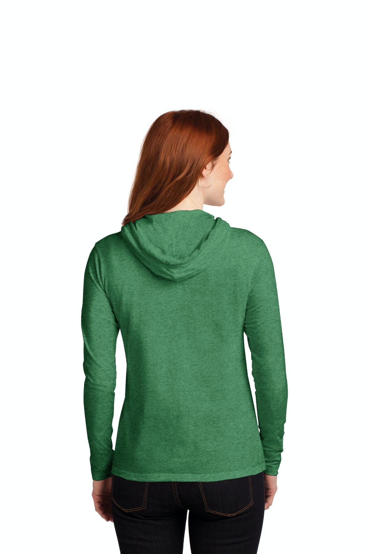 Anvil® Ladies 100% Combed Ring Spun Cotton Long Sleeve Hooded T-Shirt - sold by PRINT CITY GRAPHICS, INC