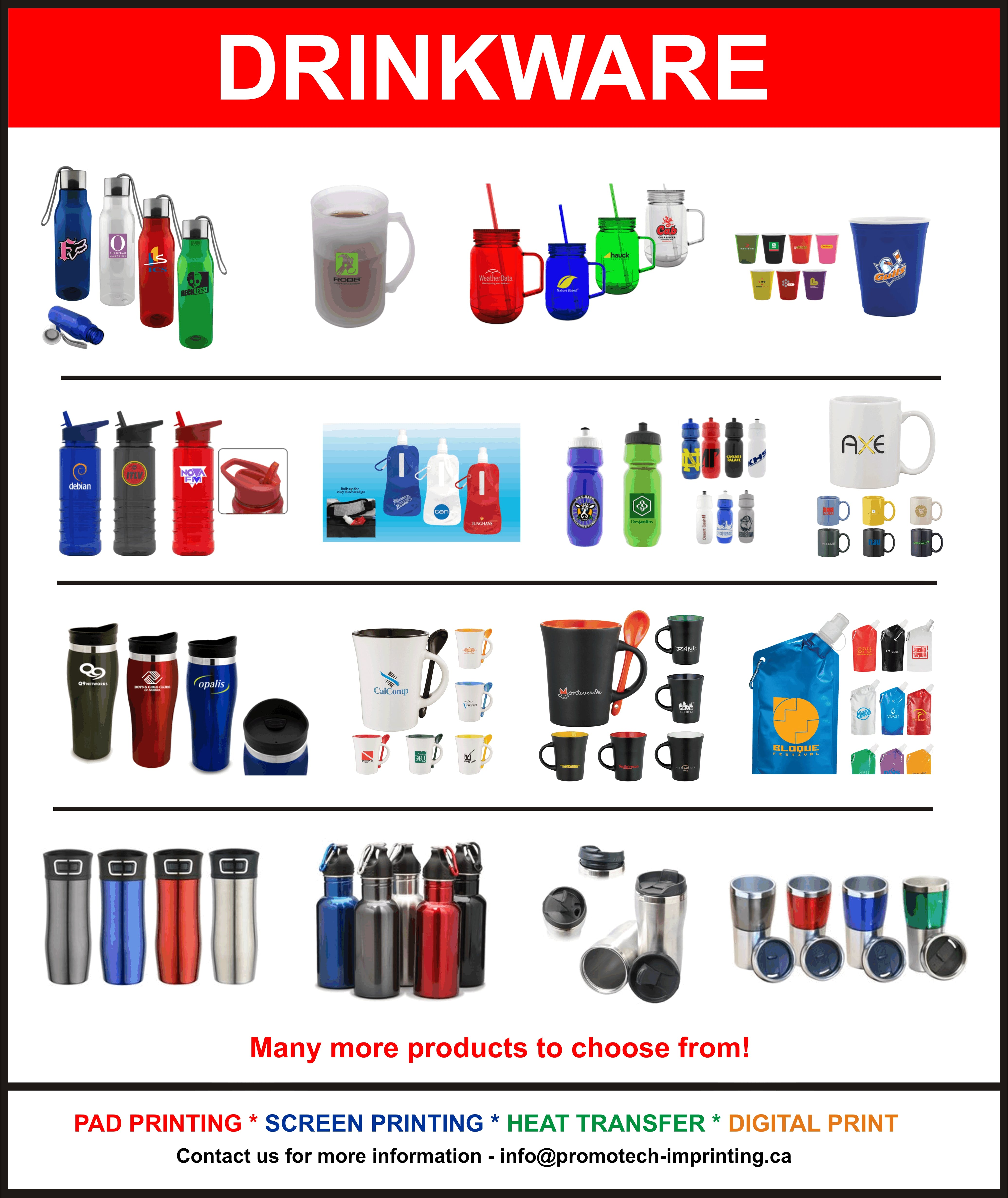 DRINKWARE Promotional token sold by PromoTech Custom Imprinting