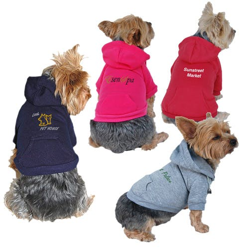 Dog Hoody Sweatshirt (Item # NIHOO-JCTUX) Promotional apparel sold by InkEasy