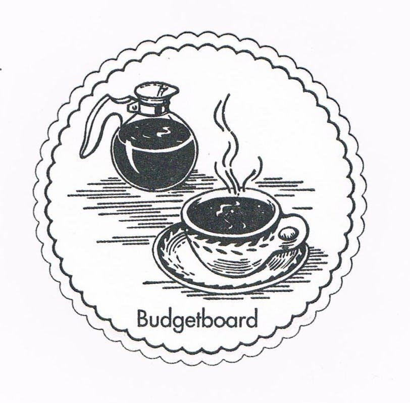 budgetboard Drink coaster sold by BEVERAGE COASTERS, INC