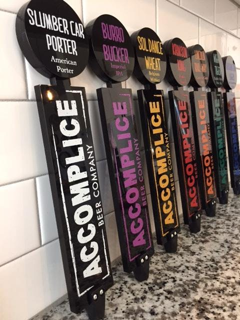 Custom lineup Tap handle sold by Switch Taps, LLC
