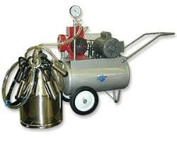 Portable Milking Machine Complete Setup for One Animal with Electric Motor Milking machine sold by Homesteader's Supply