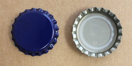 Blue - Standard Colored Bottle Caps - sold by Brewcaps