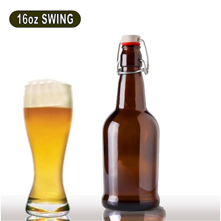 16oz (500ml) Swing Top Growler Growler sold by Wholesale Bottles USA