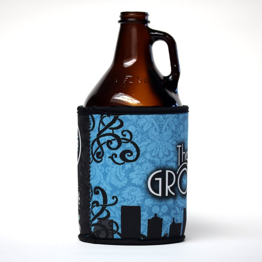 Neoprene growler insulator sleeve Koozie sold by Brewery Outfitters