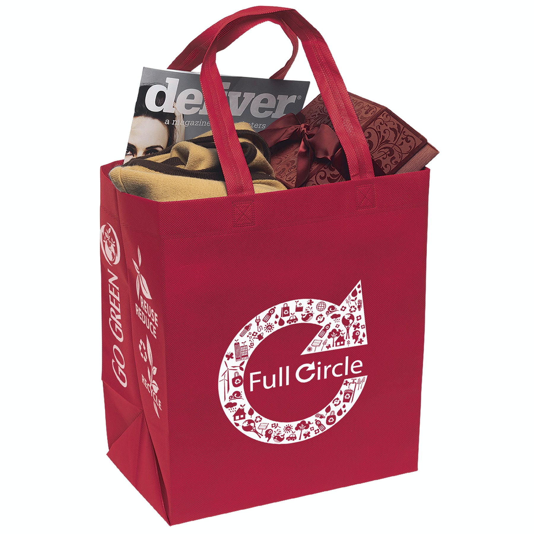 Economy Tote Bag (Item # WFIQP-HLDIA) Recycled and Eco Friendly Promotional Item sold by InkEasy