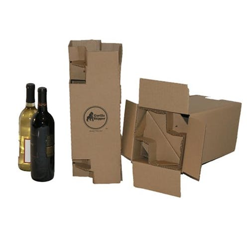 2 Bottle Cardbaord Wine Shipper