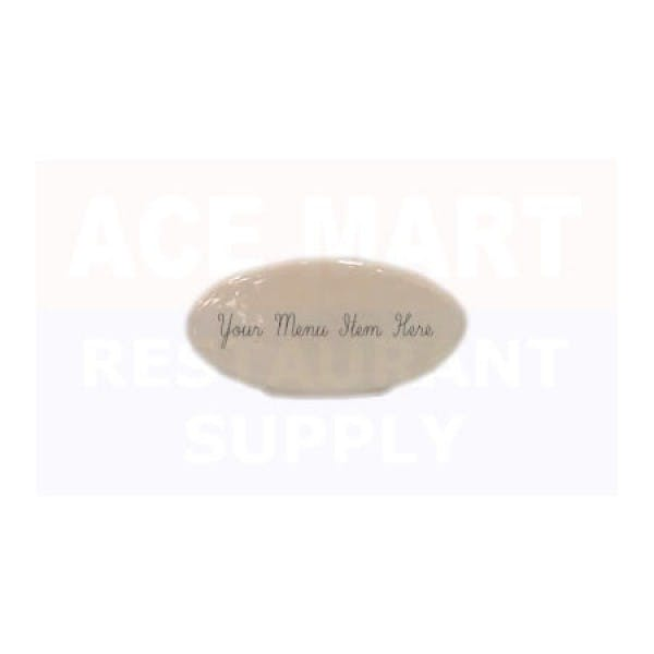 Erasable White China Buffet Tag