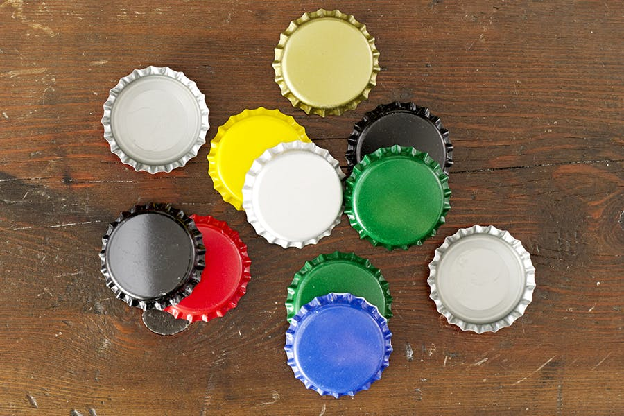 26mm Stock Crowns Bottle cap sold by Gamer Packaging Inc.