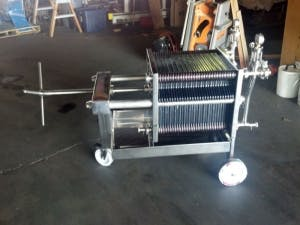 Letina New Plate filter (30 Plates) Brewing filtration sold by Ager Tank & Equipment Co.