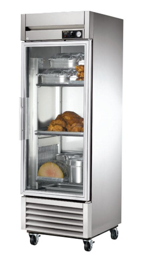 True TH-23G Glass Door Heated Cabinet (23 cu ft capacity) Holding cabinet sold by pizzaovens.com