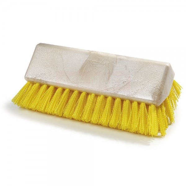 "Sparta 10"" Yellow Plastic Threaded Floor Brush Head"