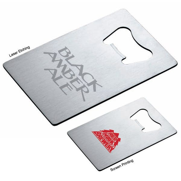 Stainless Steel Credit Card Size Bottle Opener Bottle opener sold by MicrobrewMarketing.com