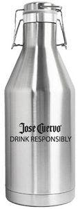64 Oz. Double Wall Vacuum Insulated Stainless Steel Beer Growler with Swing Top Growler sold by Ink Splash Promos, LLC
