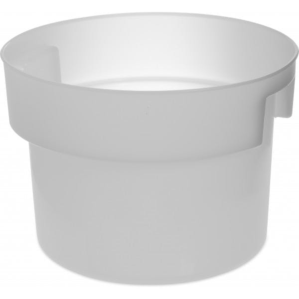12 qt. White Plastic Bains Marie Food Storage Container