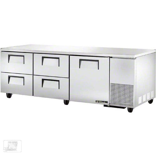 "True - TUC-93D-4 93"" Deep Undercounter Refrigerator w/ Drawers Commercial refrigerator sold by Food Service Warehouse"