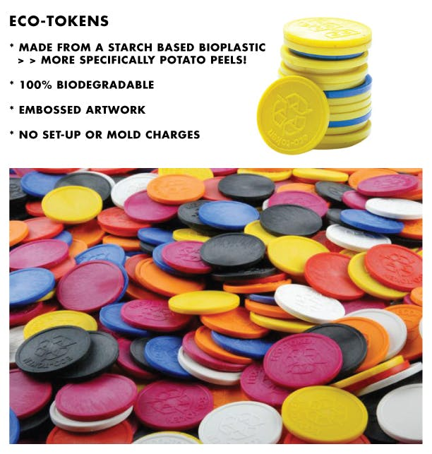 Embossed ECO-Token Promotional token sold by Brewery Outfitters