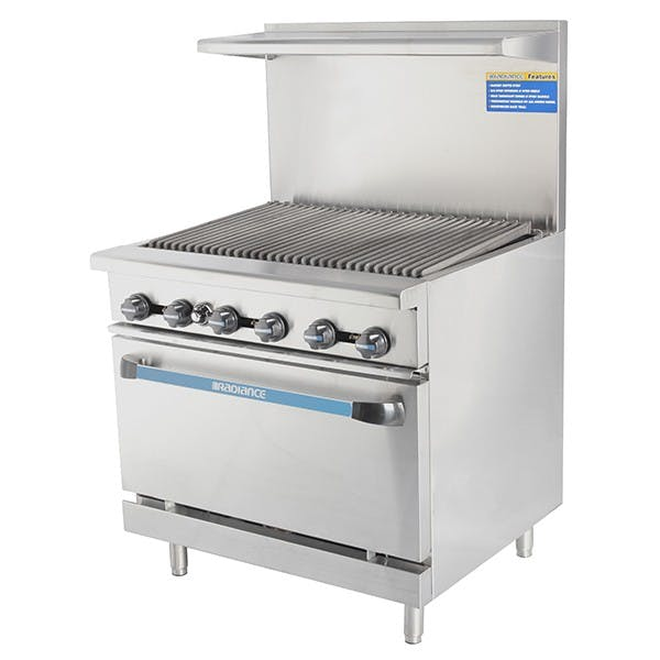 Radiance by Turbo Air TAR-36RB Heavy Duty Restaurant Range, Radiant Broiler Top, 36 Inches Wide Commercial range sold by Mission Restaurant Supply