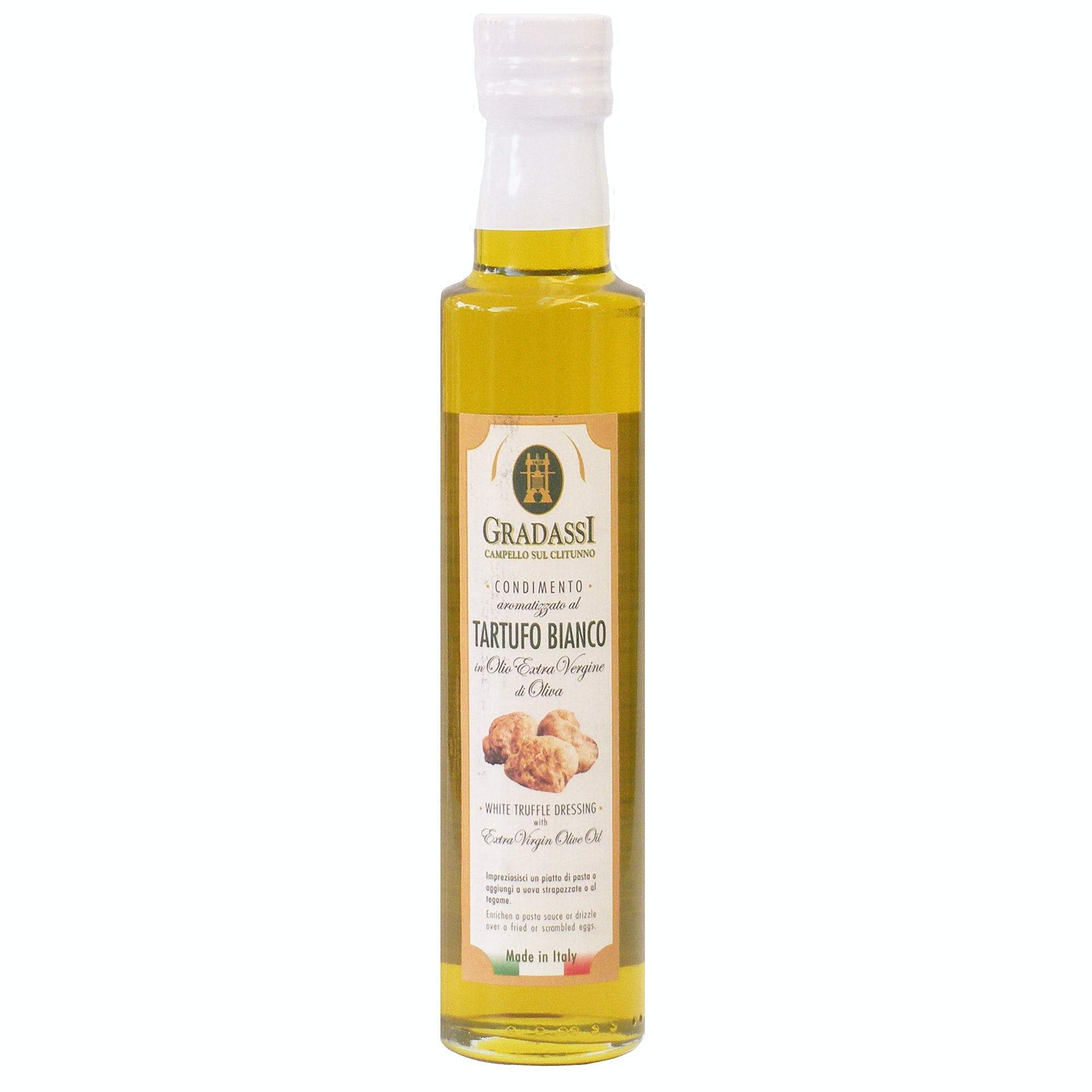 Italian Natural White Truffle Infused Extra Virgin Olive Oil Dressing From Cufrol, 8.5 Ounces - sold by M5 Corporation
