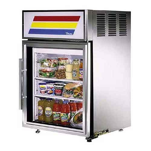 "True - GDM-5-S 24"" Countertop Glass Door Merchandiser Refrigerator Commercial refrigerator sold by Food Service Warehouse"