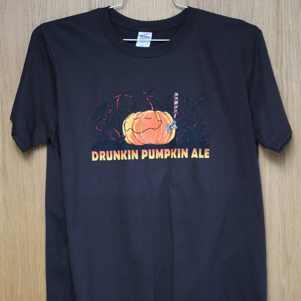 100% cotton promo tee - Fort George Drunkin Pumpkin Promotional shirt sold by Brewery Outfitters