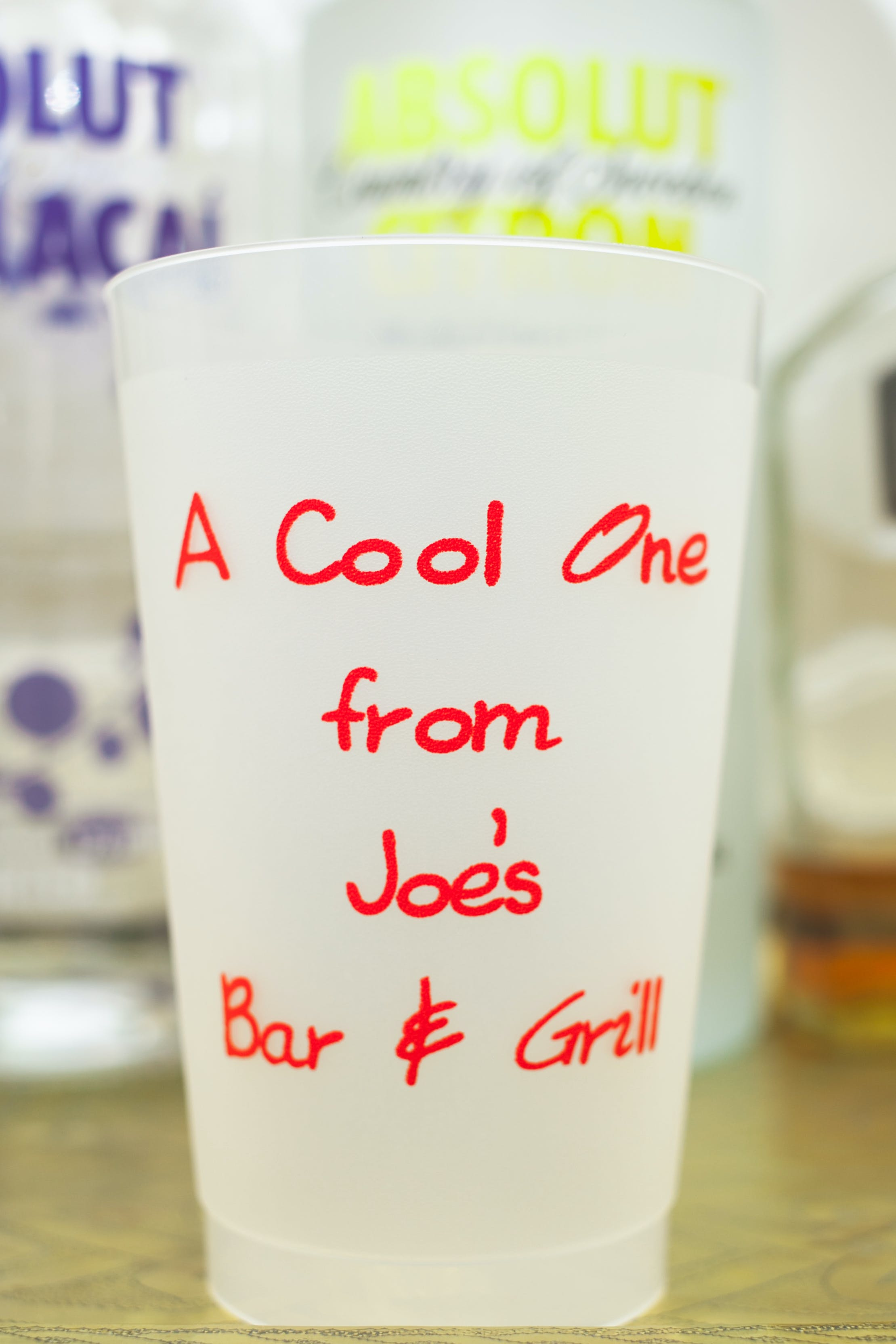 24 oz. Custom Disposable  Frost Flex Plastic Cups Disposable cup sold by Cup of Arms