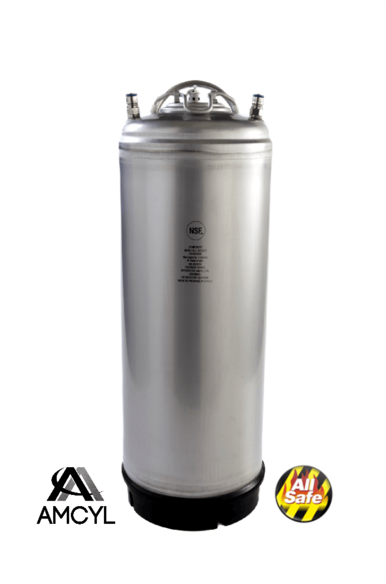 NEW! NSF Approved AMCYL 5 Gallon Single Handle Kegs Keg sold by All Safe Global, Inc.