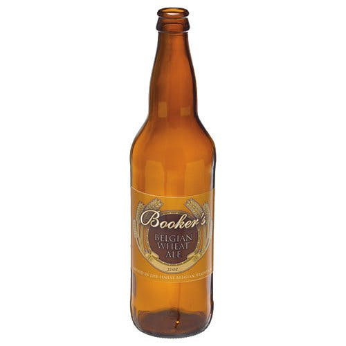 22 oz Glass Longneck Beer Bottles (Optional Gold Pry-Off Cap) Beer bottle sold by Freund Container & Supply
