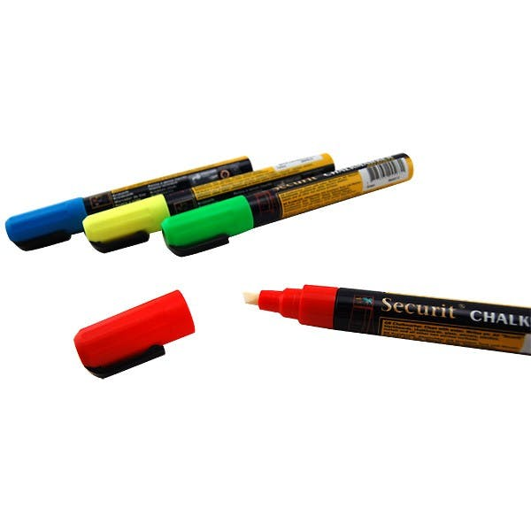Liquid chalk markers - Tap Board Chalk Board Tap Handle with 4 Chalk Markers - sold by KegWorks