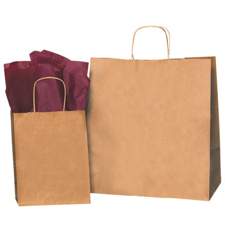 Kraft Paper Shopping Bags Kraft packaging sold by Ameripak, Inc.