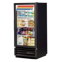 True GDM-10-LD 10 Cu. Ft. 'End of Aisle' Glass Door Merchandiser - LED Merchandiser sold by Prima Supply