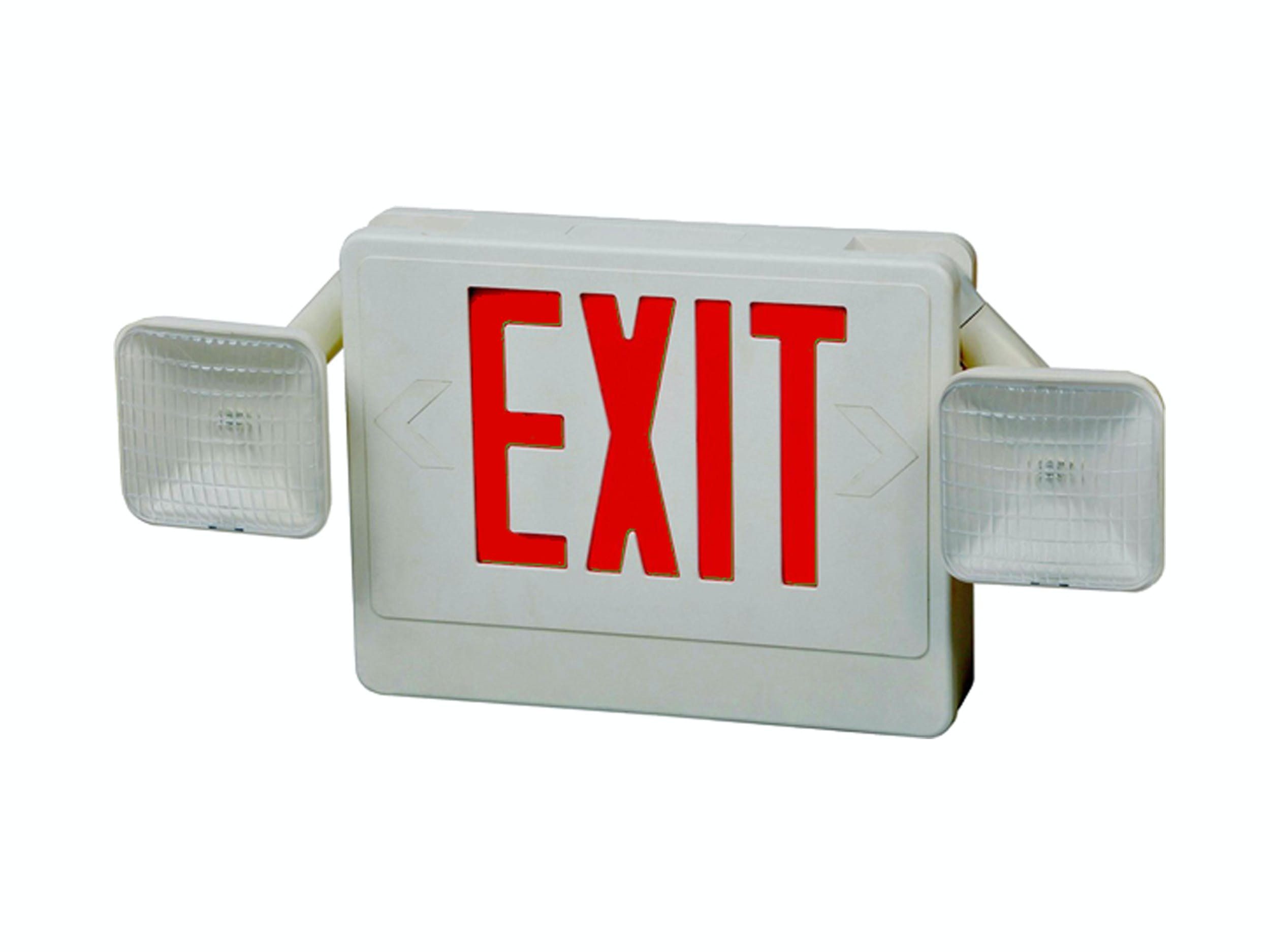 LED Combo Exit/Emergency Light With Red Letters - sold by RelightDepot.com